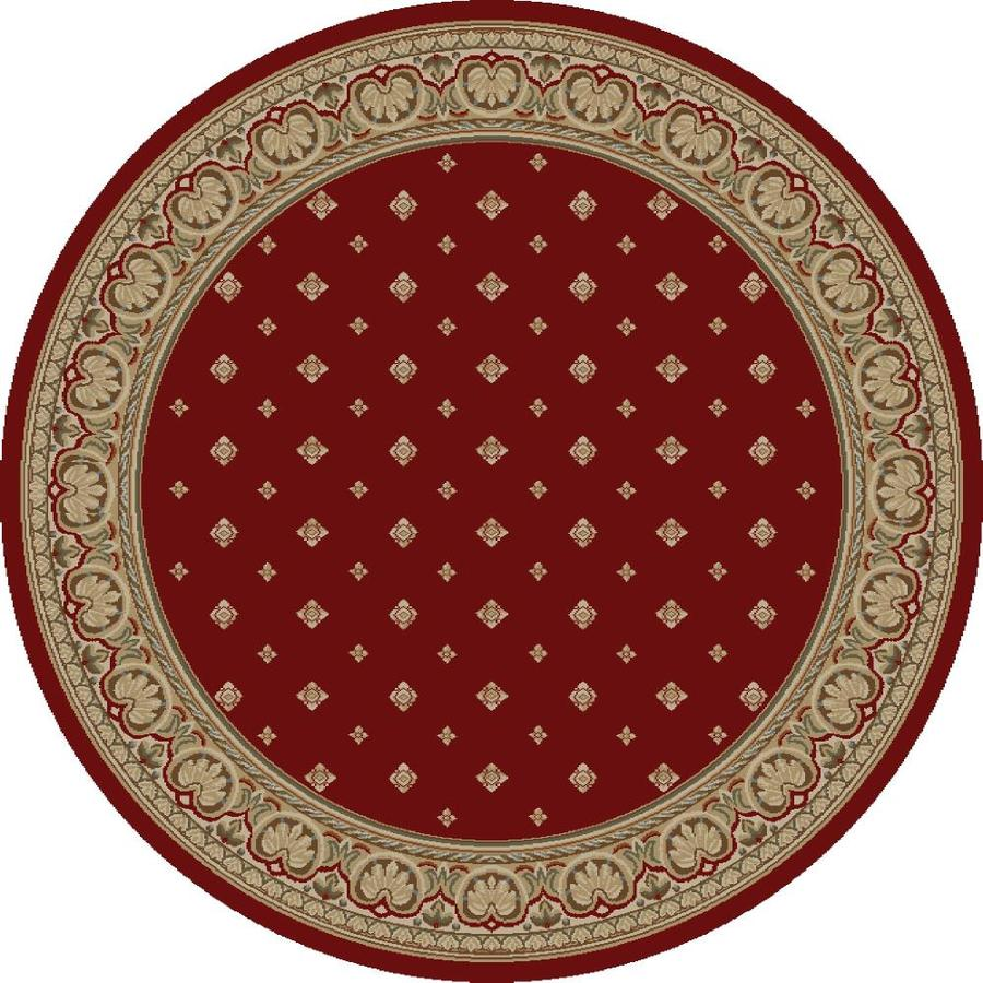 Concord Global Florence Red Round Indoor Woven Oriental Area Rug (Common: 8 x 8; Actual: 94-in W x 94-in L x 7.83-ft Dia)