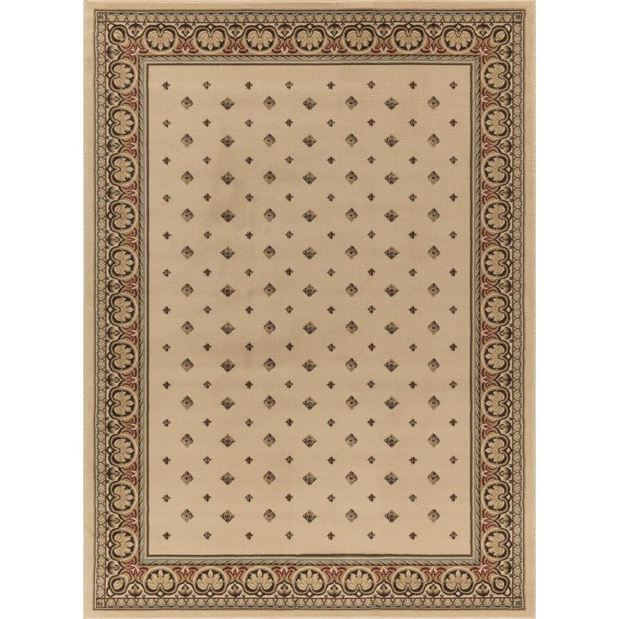 Concord Global Florence Ivory Rectangular Indoor Woven Oriental Area Rug (Common: 7 x 10; Actual: 6.58-ft W x 9.5-ft L x 6.58-ft Dia)