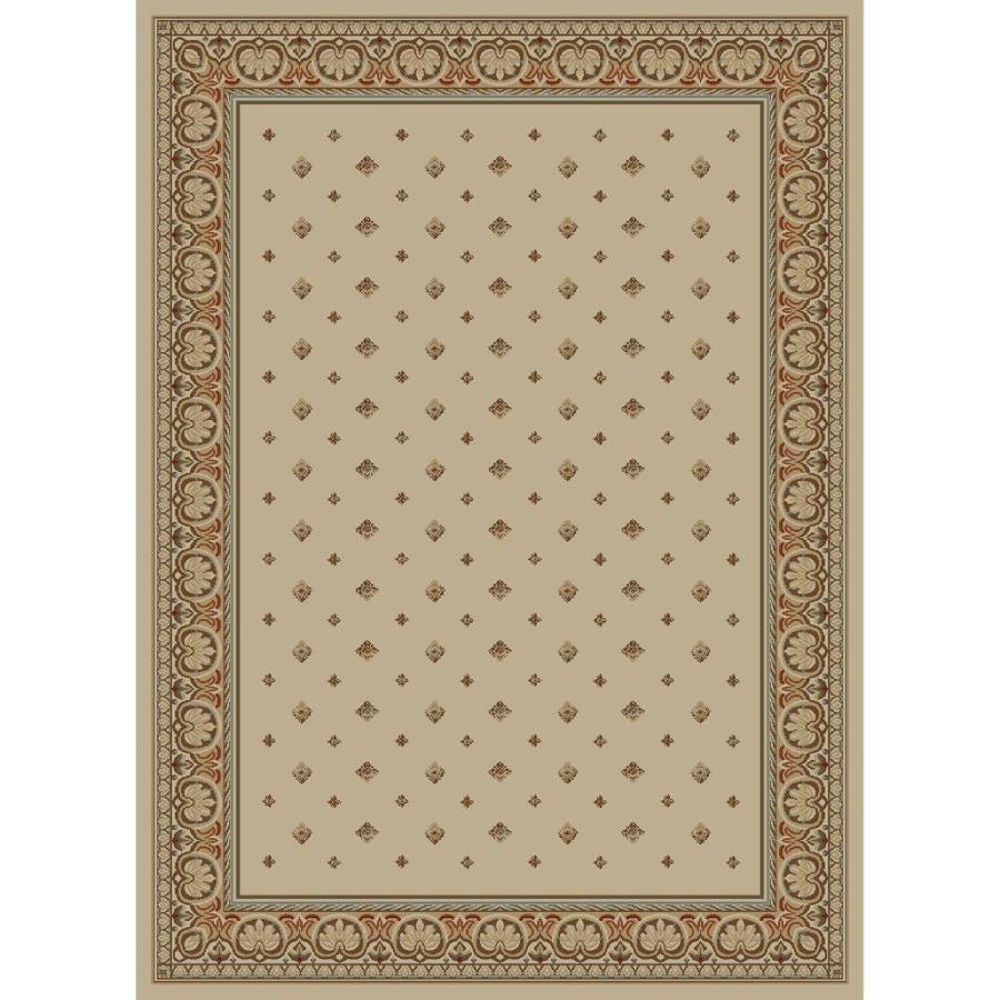 Concord Global Florence Ivory Rectangular Indoor Woven Oriental Area Rug (Common: 9 x 13; Actual: 111-in W x 150-in L x 9.25-ft Dia)