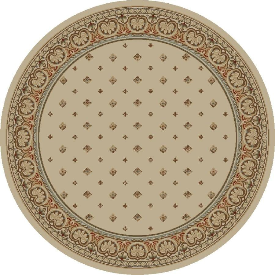 Concord Global Florence Ivory Round Indoor Woven Oriental Area Rug (Common: 8 x 8; Actual: 94-in W x 94-in L x 7.83-ft Dia)