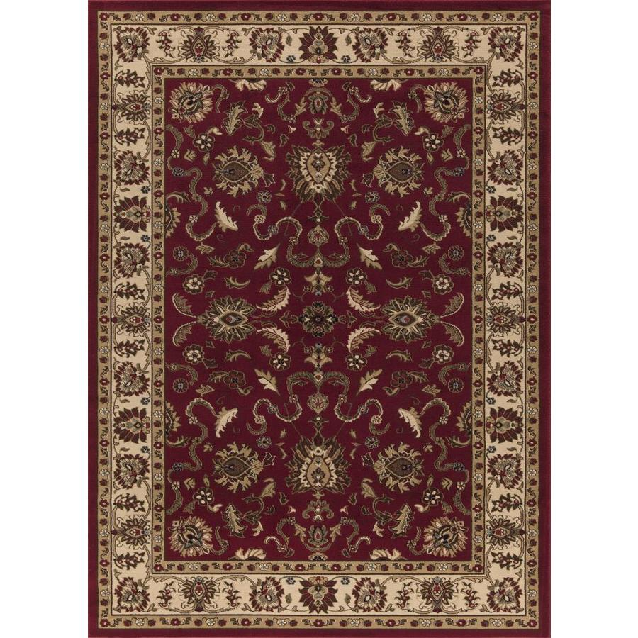 Concord Global Florence Red Rectangular Indoor Oriental Area Rug (Common: 8 x 11; Actual: 7.83-ft W x 10.83-ft L x 7.83-ft dia)