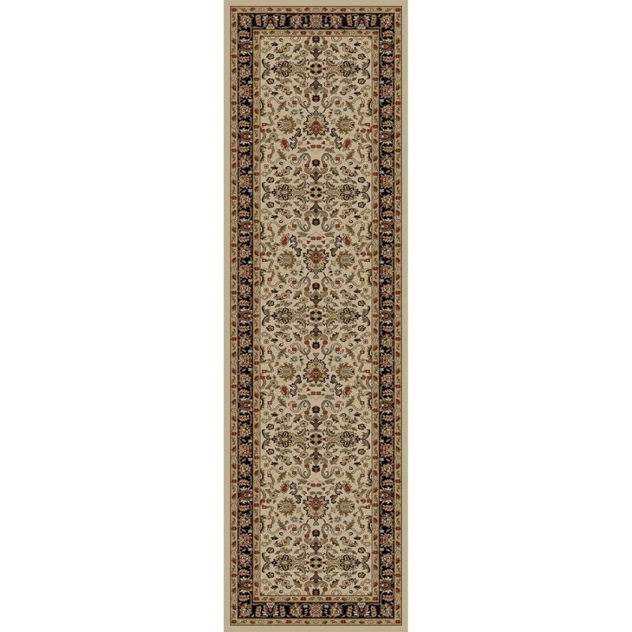 Concord Global Florence Ivory Rectangular Indoor Woven Oriental Runner (Common: 2 x 7; Actual: 2.25-ft W x 7.25-ft L x 2.25-ft Dia)