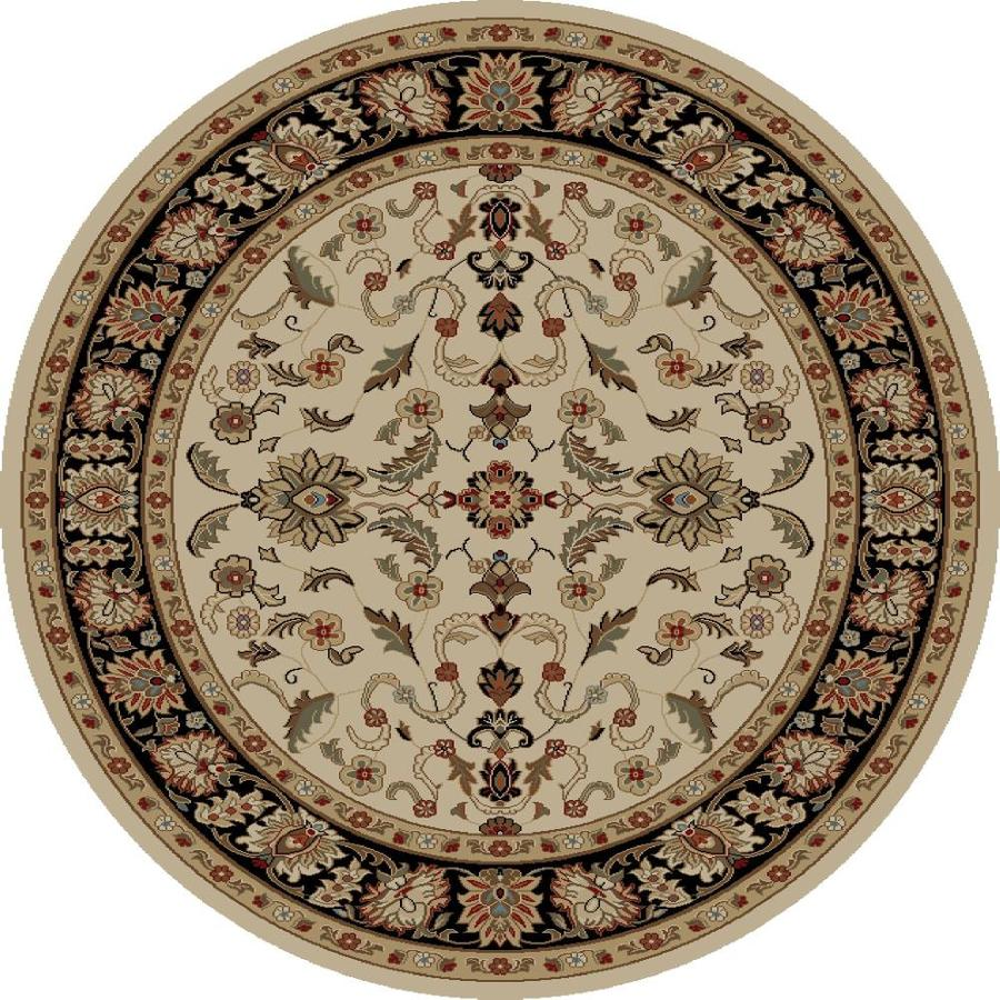 Concord Global Florence Ivory Round Indoor Oriental Area Rug (Common: 8 x 8; Actual: 7.83-ft W x 7.83-ft L x 7.83-ft dia)