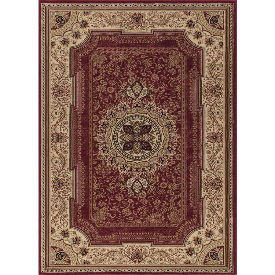Concord Global Florence Red Rectangular Indoor Woven Oriental Area Rug (Common: 7 x 10; Actual: 6.58-ft W x 9.5-ft L x 6.58-ft Dia)