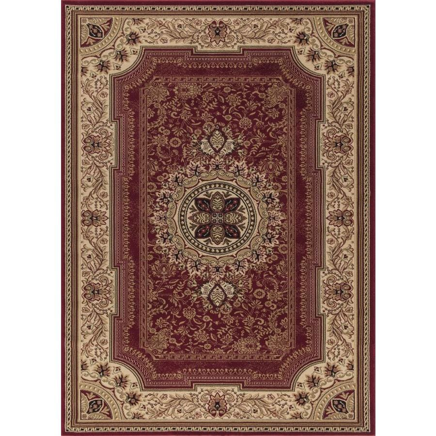 Concord Global Florence Red Rectangular Indoor Woven Oriental Area Rug (Common: 8 x 11; Actual: 7.83-ft W x 10.83-ft L x 7.83-ft Dia)