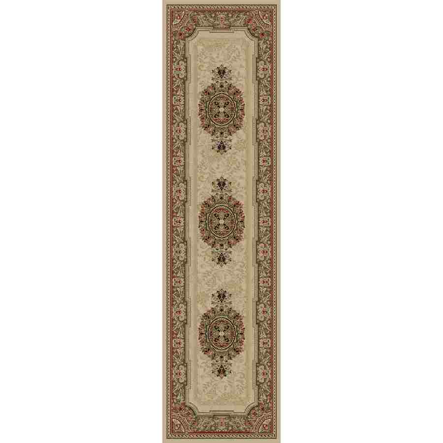 Concord Global Florence Ivory Rectangular Indoor Woven Oriental Runner (Common: 2 x 7; Actual: 2.17-ft W x 7.25-ft L x 2.17-ft Dia)