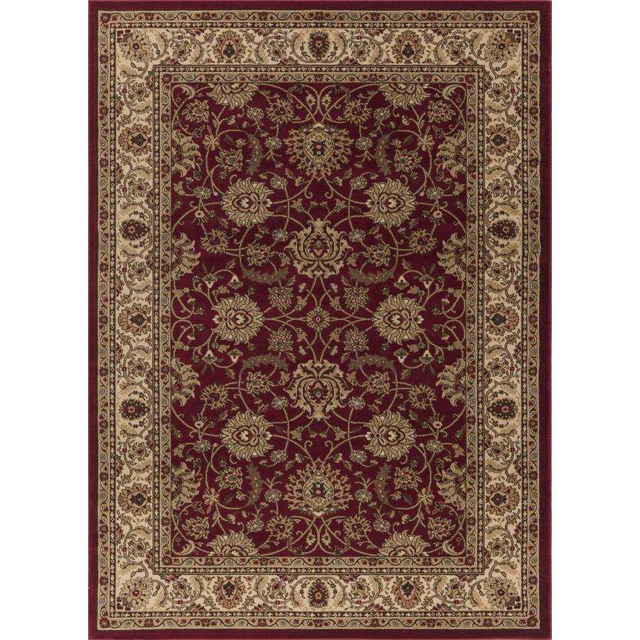 Concord Global Florence Red Rectangular Indoor Woven Oriental Area Rug (Common: 5 x 7; Actual: 5.25-ft W x 7.25-ft L x 5.25-ft Dia)