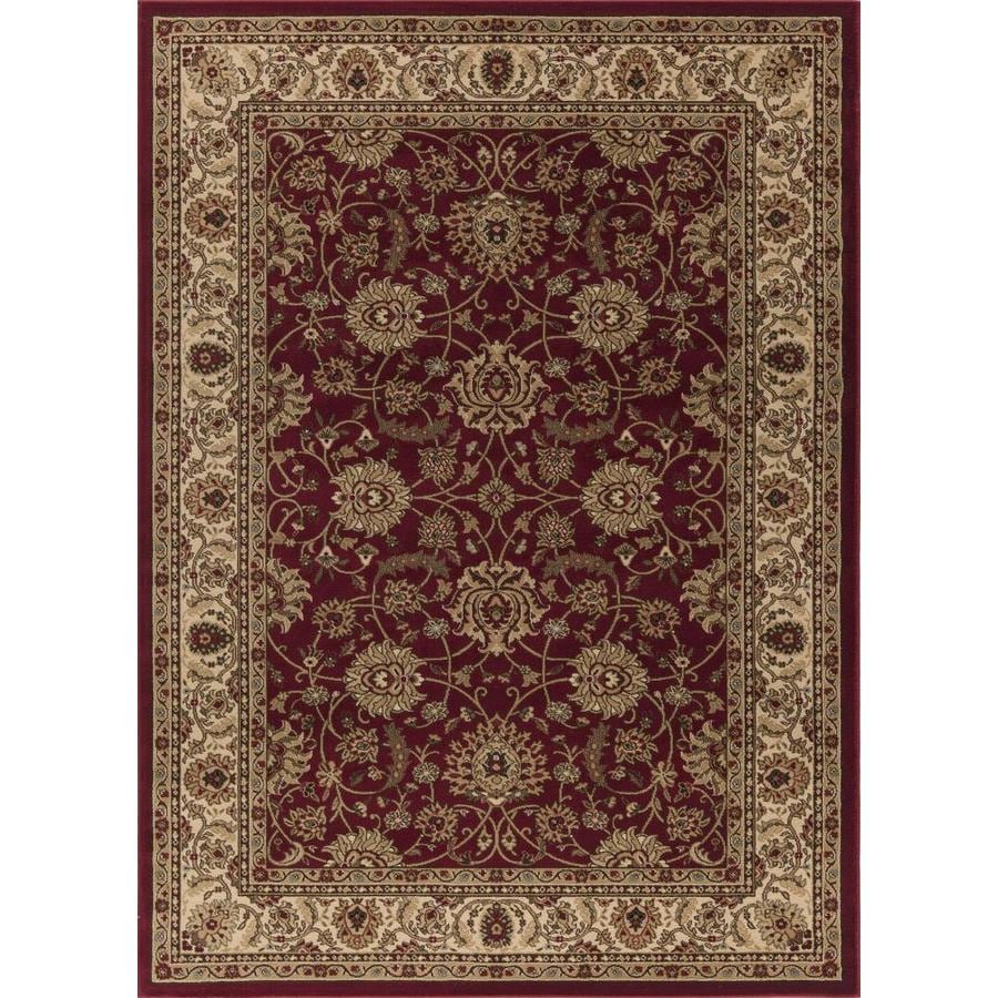 Concord Global Florence Red Rectangular Indoor Woven Oriental Area Rug (Common: 7 x 10; Actual: 79-in W x 114-in L x 6.58-ft Dia)