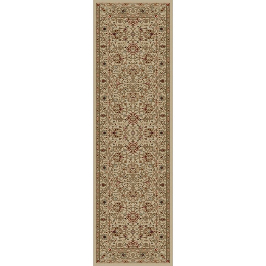 Concord Global Florence Ivory Rectangular Indoor Woven Oriental Runner (Common: 2 x 8; Actual: 2.17-ft W x 7.25-ft L x 2.17-ft Dia)