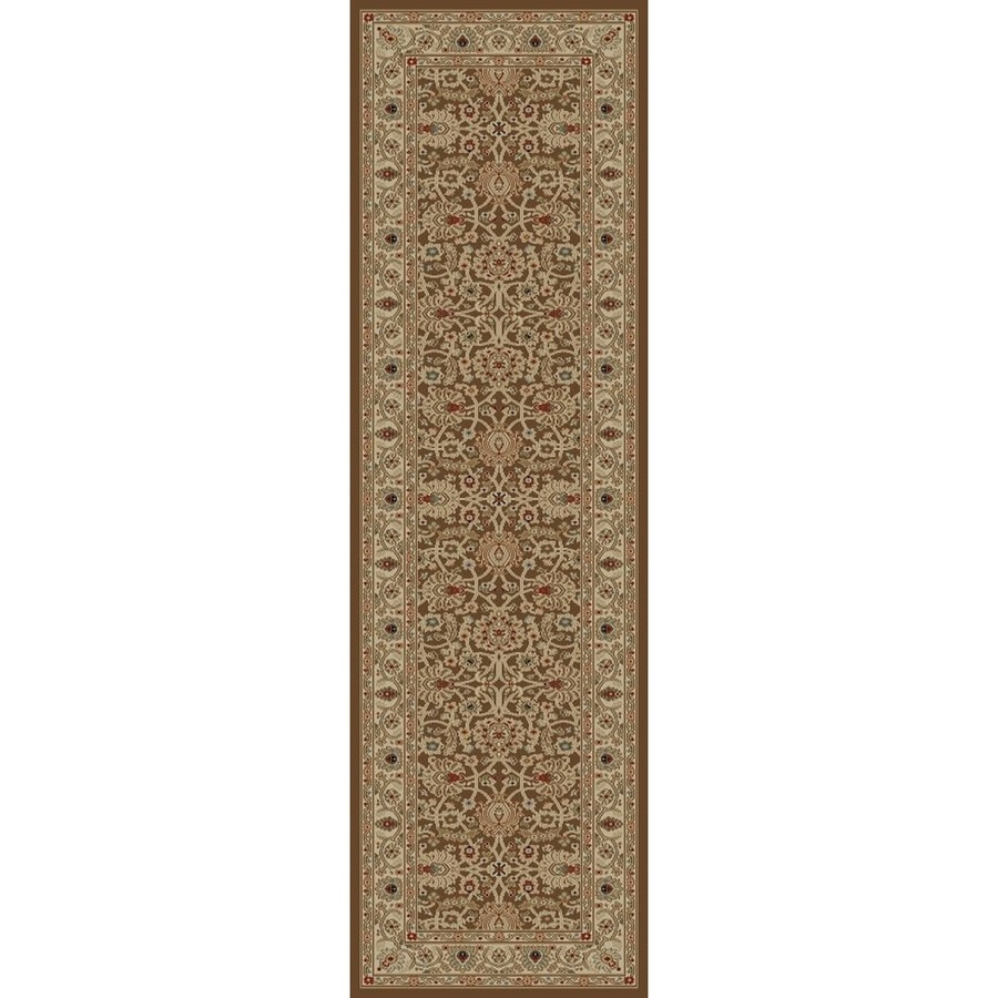 Concord Global Florence Brown Rectangular Indoor Woven Oriental Runner (Common: 2 x 7; Actual: 2.17-ft W x 7.25-ft L x 2.17-ft Dia)