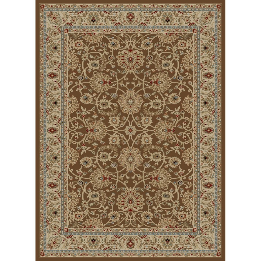 Concord Global Florence Brown Rectangular Indoor Woven Oriental Area Rug (Common: 9 x 13; Actual: 111-in W x 150-in L x 9.25-ft Dia)
