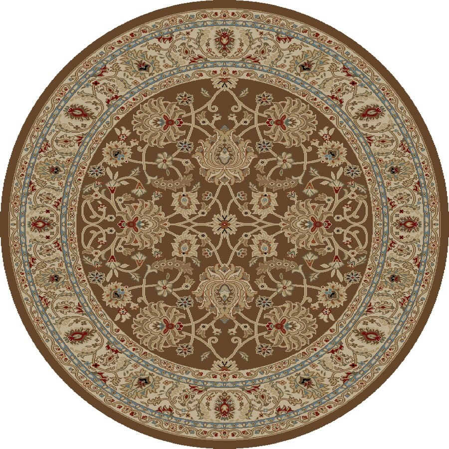Shop Concord Global Florence Brown Round Indoor Oriental