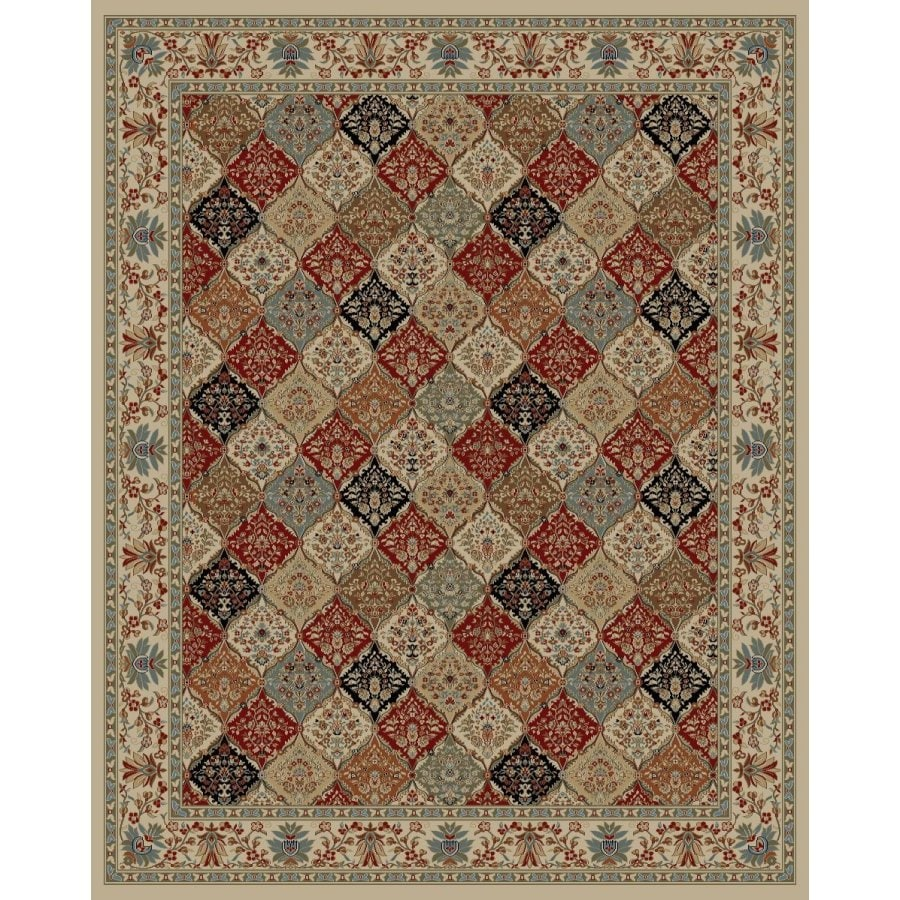 Style Selections Gabbett Multicolor Rectangular Indoor Woven Oriental Area Rug (Common: 8 x 10; Actual: 94-in W x 118-in L x 7.83-ft Dia)