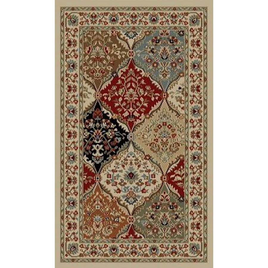 Style Selections Gabbett Multicolor Rectangular Indoor Woven Oriental Throw Rug (Common: 2 x 3; Actual: 1.92-ft W x 3.25-ft L x 1.92-ft Dia)