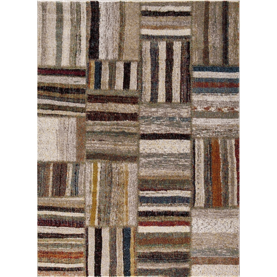 Concord Global Sterling Ivory Rectangular Indoor Machine-Made Inspirational Area Rug (Common: 8 x 11; Actual: 7.83-ft W x 10.5-ft L)