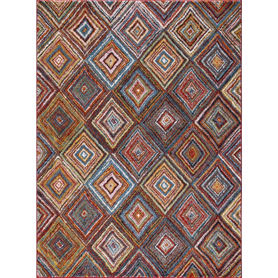 Concord Global Sterling Multi Rectangular Indoor Machine-Made Inspirational Area Rug (Common: 5 x 8; Actual: 5.25-ft W x 7.25-ft L)