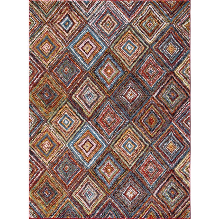 Concord Global Sterling Multi Rectangular Indoor Machine-Made Inspirational Area Rug (Common: 7 x 10; Actual: 6.58-ft W x 9.25-ft L)