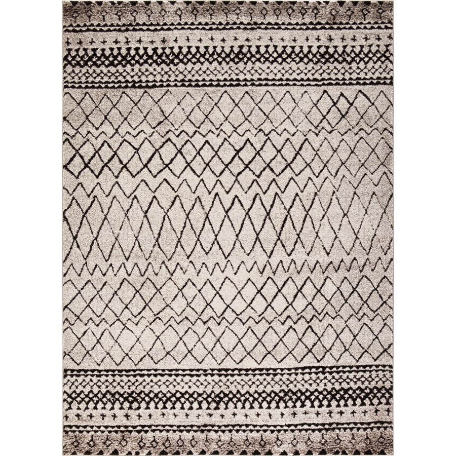 Concord Global Sterling Ivory Rectangular Indoor Machine-Made Moroccan Area Rug (Common: 3 x 4; Actual: 2.58-ft W x 5-ft L)
