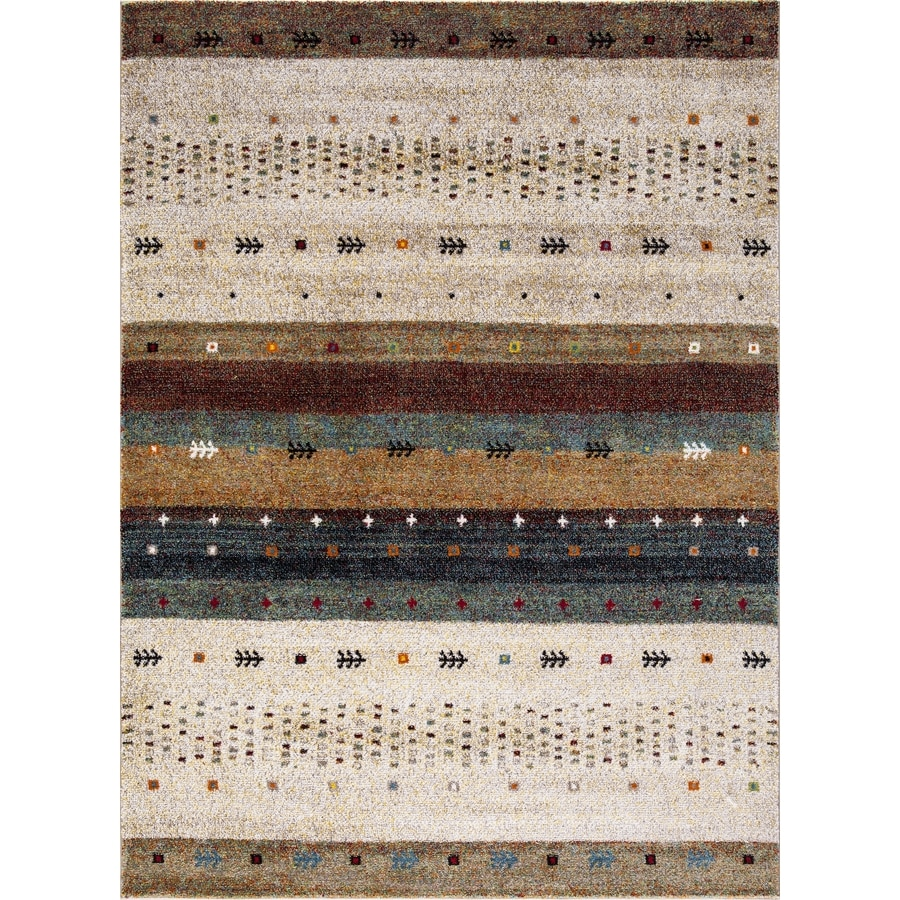 Concord Global Sterling Beige Rectangular Indoor Machine-Made Southwestern Area Rug (Common: 5 x 8; Actual: 5.25-ft W x 7.25-ft L)
