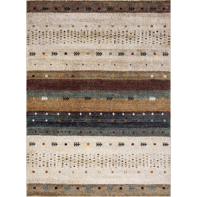 Sterling Beige Indoor Southwestern Area Rug Common 8 X 11 Actual 7 83 Ft W 10 5 L
