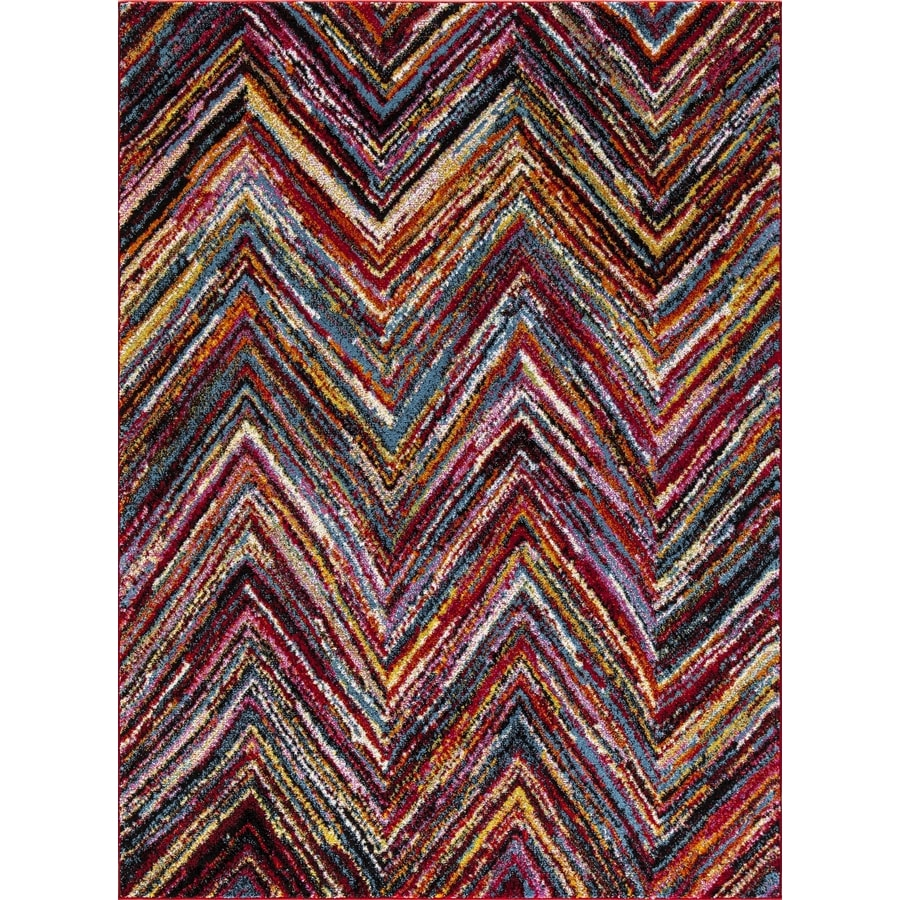 Concord Global Sterling Multi Rectangular Indoor Machine-Made Oriental Area Rug (Common: 8 x 11; Actual: 7.83-ft W x 10.5-ft L)