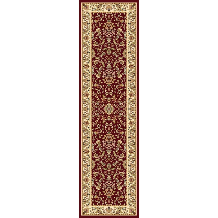 Concord Global Cyrus Red Rectangular Indoor Woven Oriental Runner (Common: 2 x 8; Actual: 2.17-ft W x 7.83-ft L x 2.17-ft Dia)