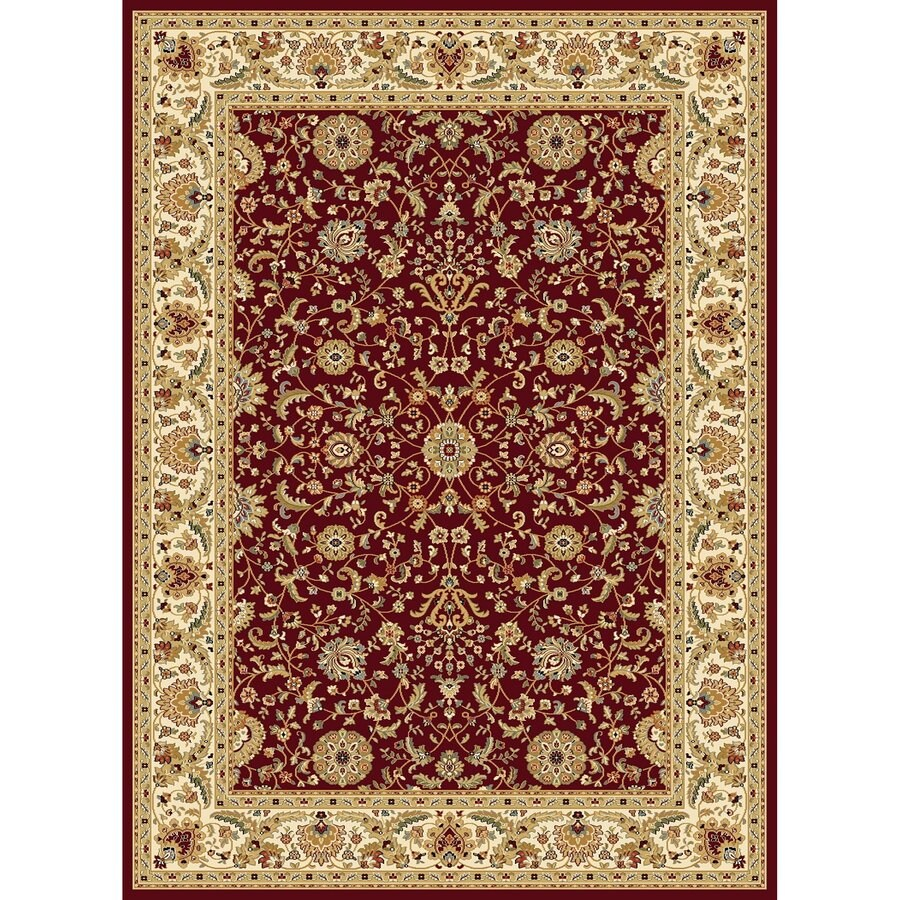 Concord Global Cyrus Red Rectangular Indoor Woven Oriental Area Rug (Common: 8 x 11; Actual: 7.83-ft W x 10.83-ft L x 7.83-ft Dia)