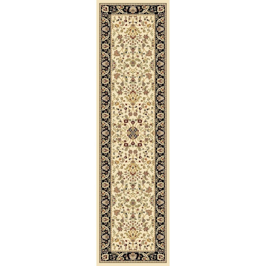 Concord Global Cyrus Ivory Rectangular Indoor Woven Oriental Runner (Common: 2 x 8; Actual: 26-in W x 94-in L x 2.17-ft Dia)