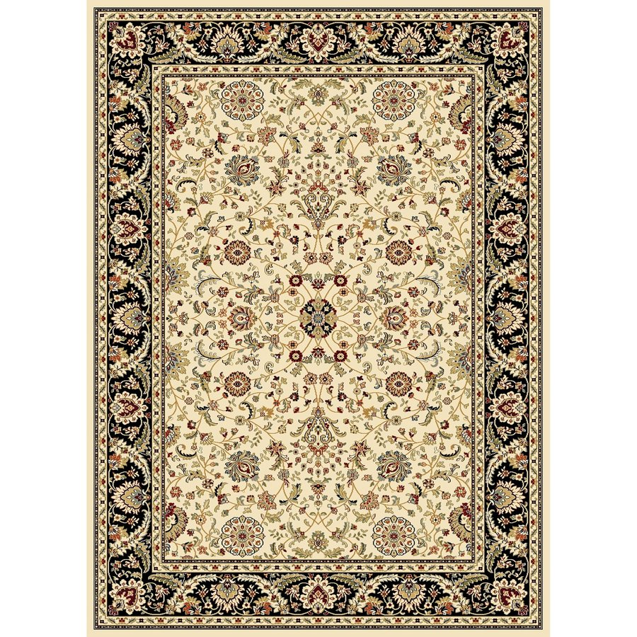 Concord Global Cyrus Ivory Rectangular Indoor Woven Oriental Area Rug (Common: 8 x 11; Actual: 7.83-ft W x 10.83-ft L x 7.83-ft Dia)