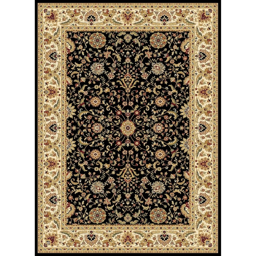 Concord Global Cyrus Black Rectangular Indoor Woven Oriental Area Rug (Common: 9 x 12; Actual: 8.75-ft W x 12.33-ft L x 8.75-ft Dia)