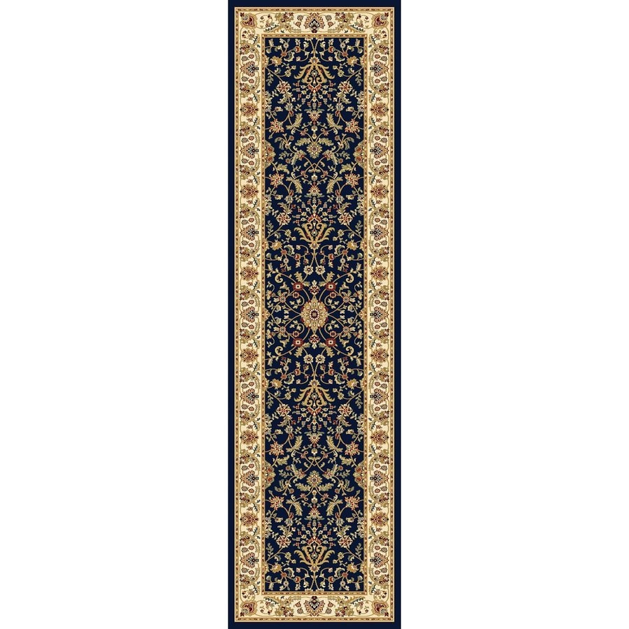 Concord Global Cyrus Navy Rectangular Indoor Woven Oriental Runner (Common: 2 x 8; Actual: 2.17-ft W x 7.83-ft L x 2.17-ft Dia)