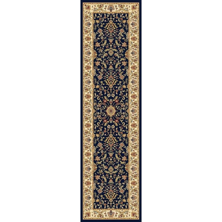 Concord Global Cyrus Navy Rectangular Indoor Woven Oriental Runner (Common: 2 x 8; Actual: 26-in W x 94-in L x 2.17-ft Dia)