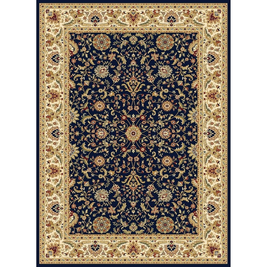 Concord Global Cyrus Navy Rectangular Indoor Woven Oriental Area Rug (Common: 5 x 7; Actual: 5.25-ft W x 7.25-ft L x 5.25-ft Dia)