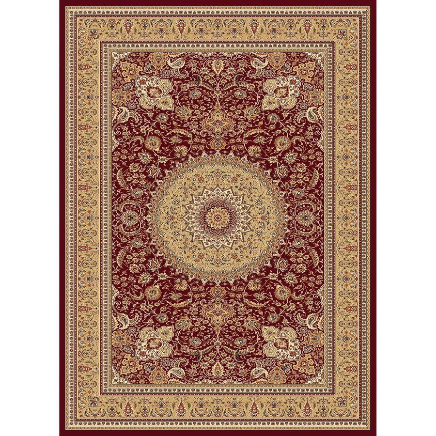 Concord Global Cyrus Red Rectangular Indoor Woven Oriental Area Rug (Common: 5 x 7; Actual: 63-in W x 87-in L x 5.25-ft Dia)