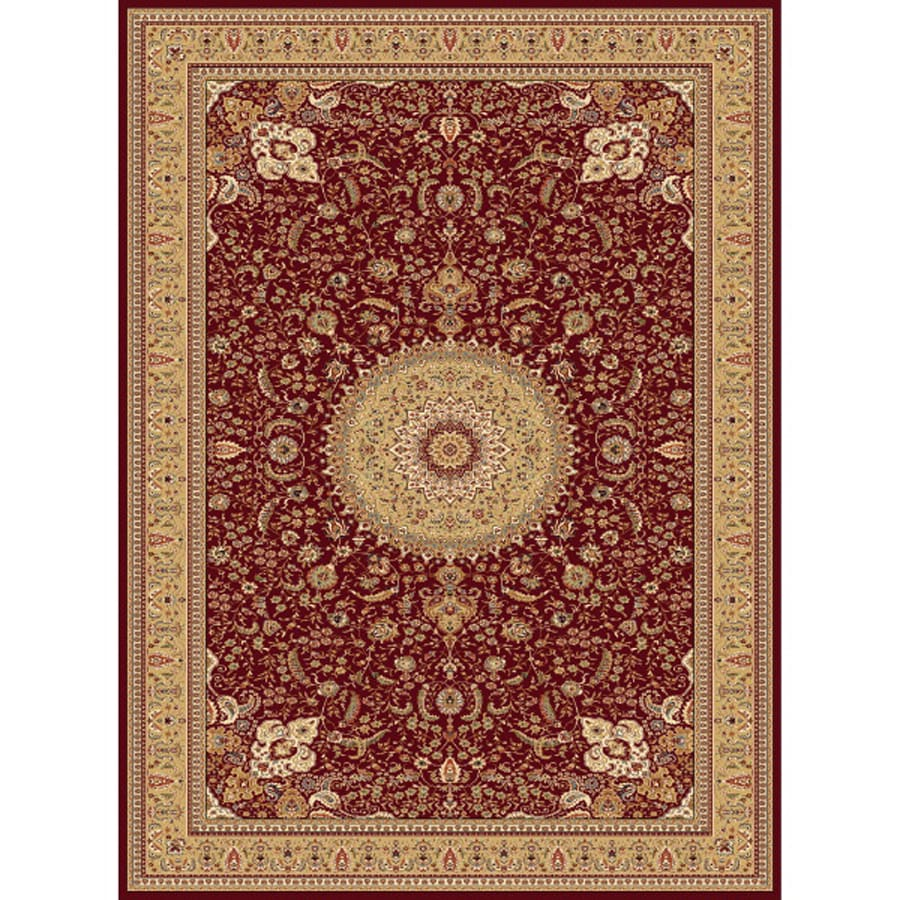 Concord Global Cyrus Red Rectangular Indoor Woven Oriental Area Rug (Common: 9 x 13; Actual: 9.25-ft W x 12.5-ft L x 9.25-ft Dia)