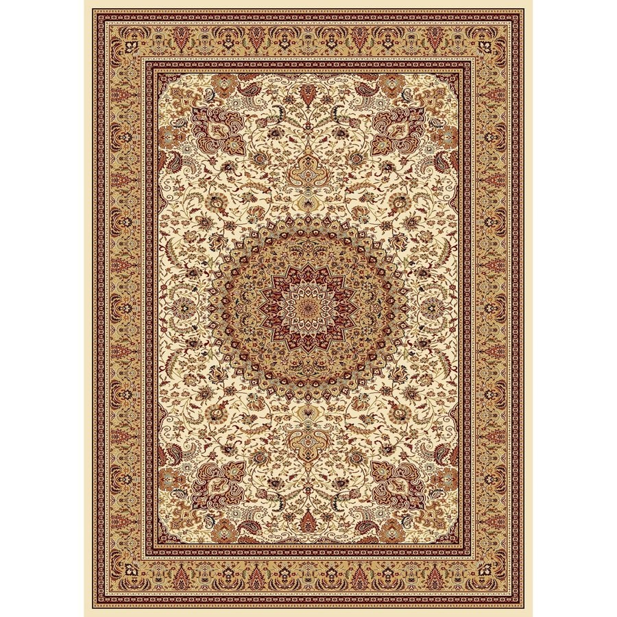 Concord Global Cyrus Ivory Rectangular Indoor Woven Oriental Area Rug (Common: 5 x 7; Actual: 5.25-ft W x 7.25-ft L x 5.25-ft Dia)