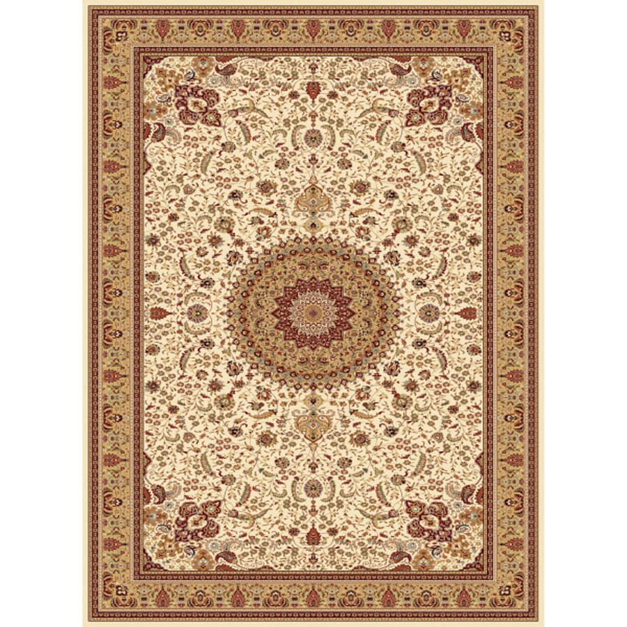 Concord Global Cyrus Ivory Rectangular Indoor Woven Oriental Area Rug (Common: 9 x 13; Actual: 9.25-ft W x 12.5-ft L x 9.25-ft Dia)