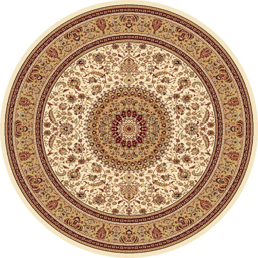 Concord Global Cyrus Ivory Round Indoor Woven Oriental Area Rug (Common: 8 x 8; Actual: 94-in W x 94-in L x 7.83-ft Dia)