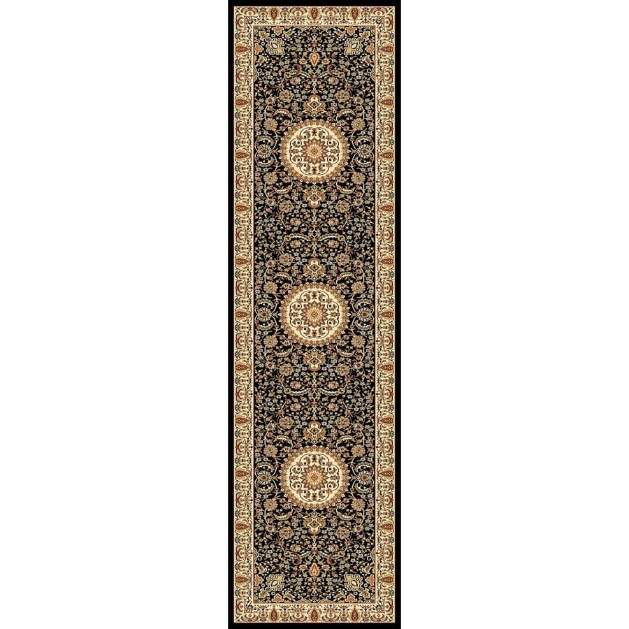 Concord Global Cyrus Black Rectangular Indoor Woven Oriental Runner (Common: 2 x 8; Actual: 2.17-ft W x 7.83-ft L x 2.17-ft Dia)