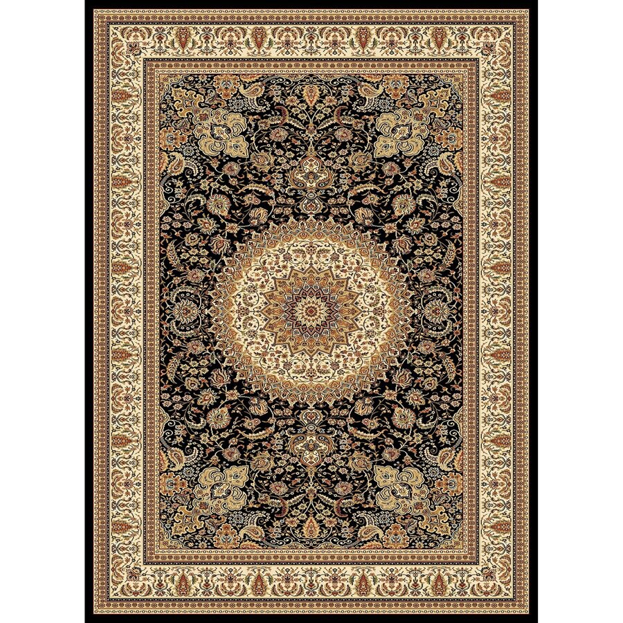 Concord Global Cyrus Black Rectangular Indoor Woven Oriental Area Rug (Common: 7 x 10; Actual: 6.58-ft W x 9.5-ft L x 6.58-ft Dia)