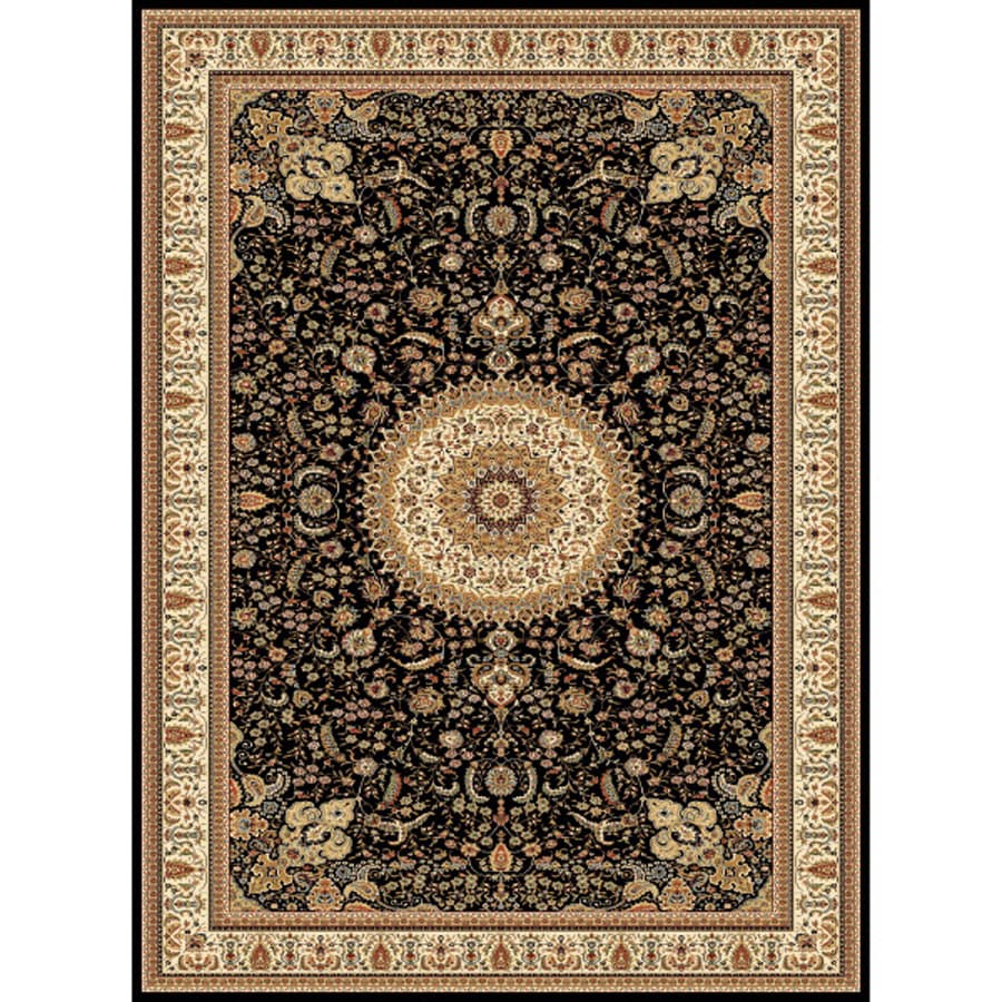 Concord Global Cyrus Black Rectangular Indoor Woven Oriental Area Rug (Common: 9 x 13; Actual: 111-in W x 150-in L x 9.25-ft Dia)