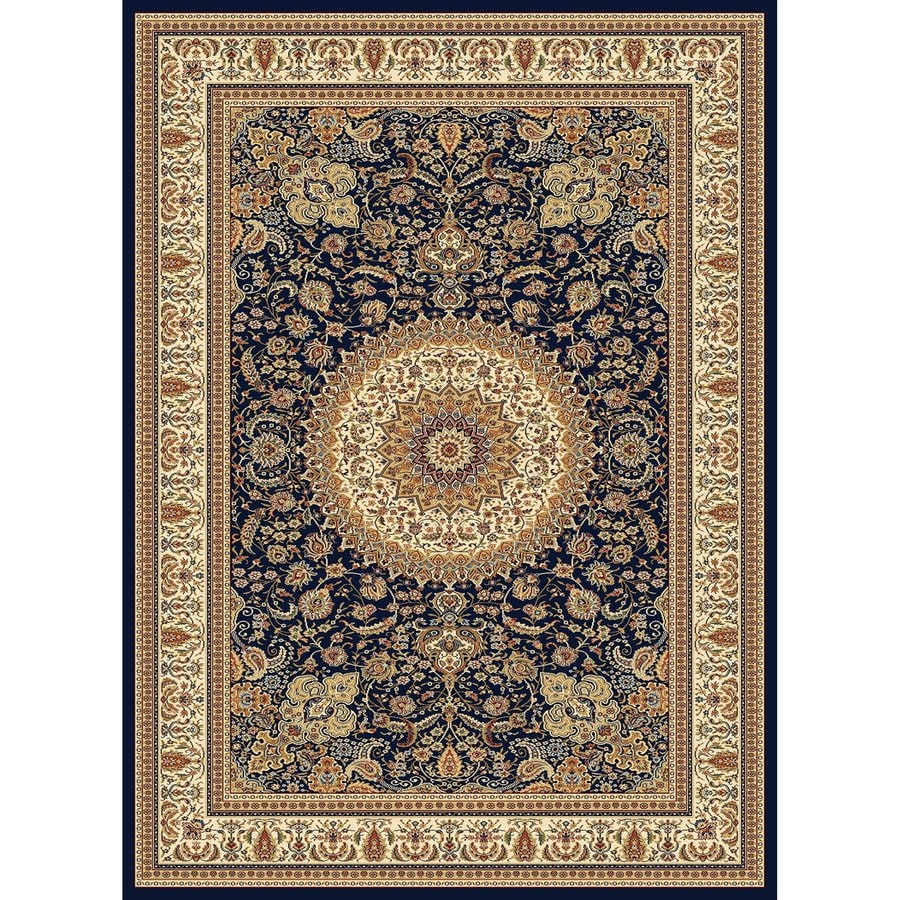 Concord Global Cyrus Navy Rectangular Indoor Machine-Made Oriental Area Rug (Common: 8 x 11; Actual: 7.83-ft W x 10.83-ft L x 7.83-ft dia)