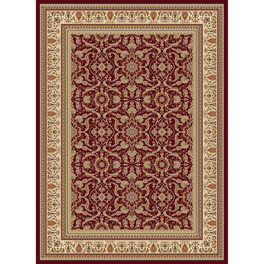 Concord Global Cyrus Red Rectangular Indoor Woven Oriental Area Rug (Common: 7 x 10; Actual: 79-in W x 114-in L x 6.58-ft Dia)