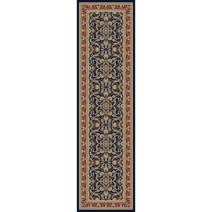 Concord Global Cyrus Navy Rectangular Indoor Woven Oriental Runner (Common: 2 x 8; Actual: 26-in W x 94-in L x 2.17-ft Dia)
