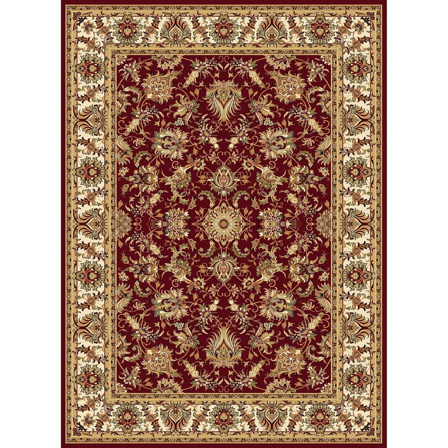Concord Global Cyrus Red Rectangular Indoor Woven Oriental Area Rug (Common: 7 x 10; Actual: 6.58-ft W x 9.5-ft L x 6.58-ft Dia)