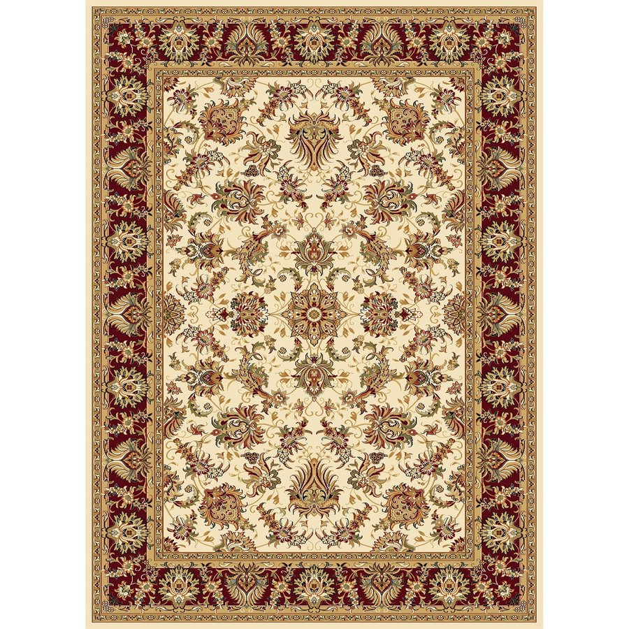 Concord Global Cyrus Ivory Rectangular Indoor Woven Oriental Area Rug (Common: 7 x 10; Actual: 6.58-ft W x 9.5-ft L x 6.58-ft Dia)
