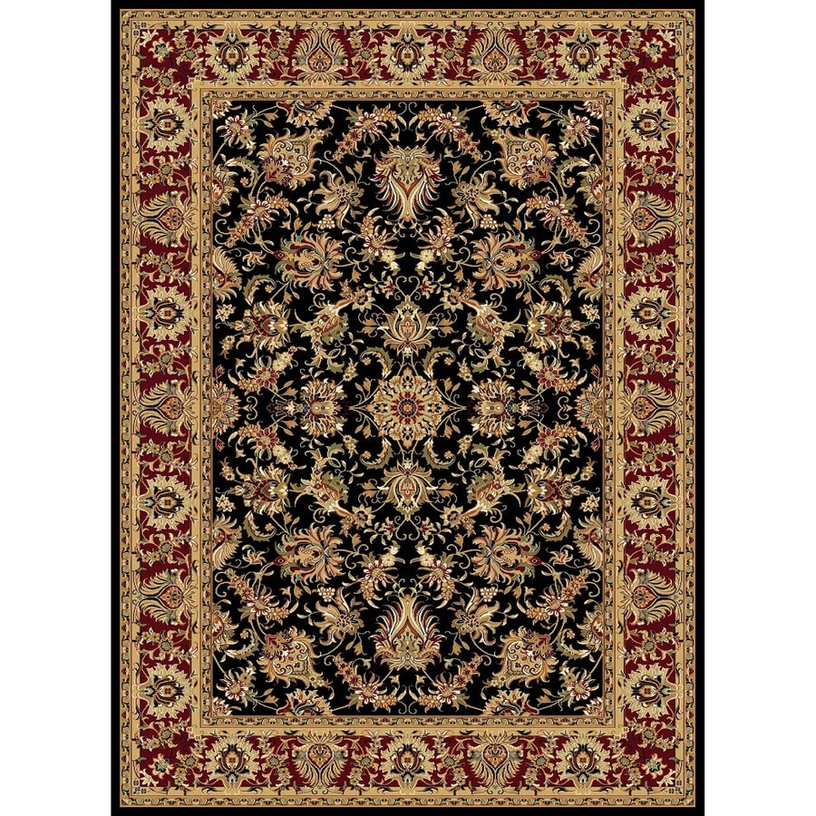 Concord Global Cyrus Black Indoor Oriental Area Rug (Common: 8 x 11; Actual: 7.83-ft W x 10.83-ft L x 7.83-ft dia)