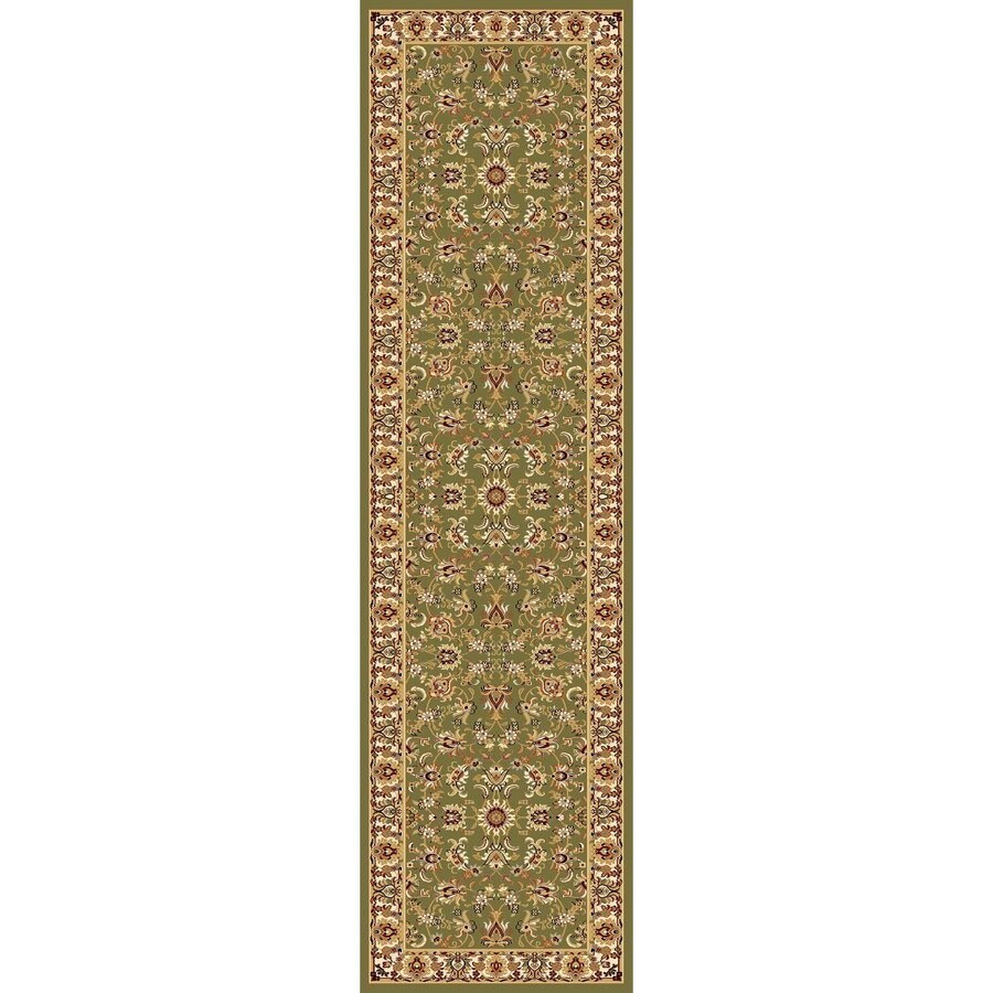 Concord Global Cyrus Green Rectangular Indoor Machine-made Oriental Runner (Common: 2 x 8; Actual: 2.17-ft W x 7.83-ft L x 2.17-ft Dia)