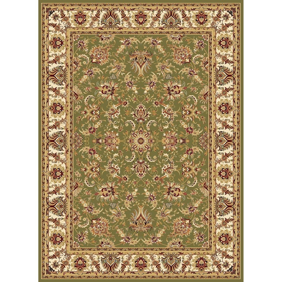Concord Global Cyrus Green Rectangular Indoor Machine-Made Oriental Area Rug (Common: 5 x 7; Actual: 5.25-ft W x 7.25-ft L x 5.25-ft Dia)