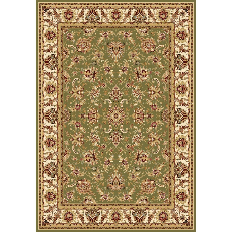 Concord Global Cyrus Green Rectangular Indoor Machine-made Oriental Area Rug (Common: 9 x 12; Actual: 8.75-ft W x 12.33-ft L x 8.75-ft Dia)